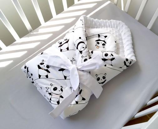 Rożek niemowlęcy Pandy i Biel
