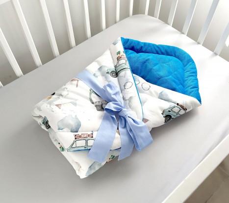 Rożek niemowlęcy Maluchy i Morski Velvet [PREMIUM]