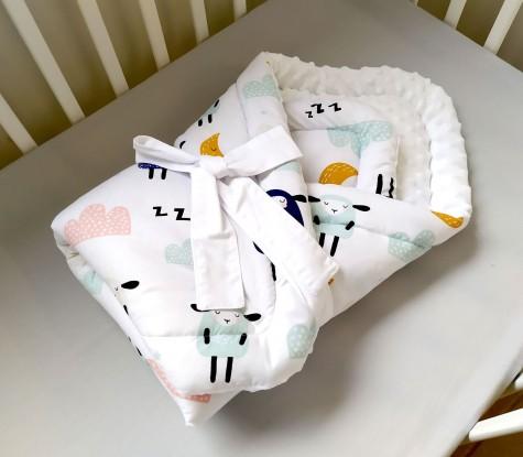 Rożek niemowlęcy Owieczki i Biel