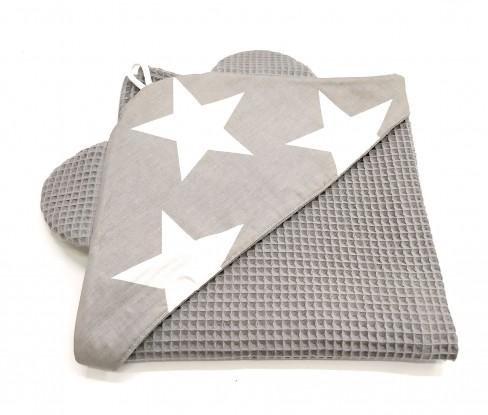 Ręcznik z kapturkiem Waffle Gwiazdki