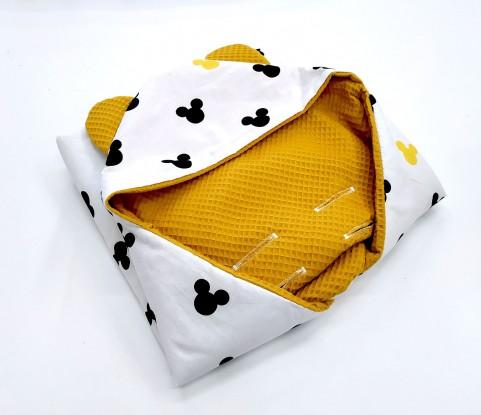 Kocyk do nosidełka i fotelika Myszka Miki (wersja ocieplana)