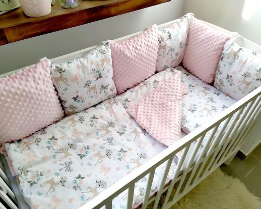 3-el pościel do łóżeczka Sarenki i Róż