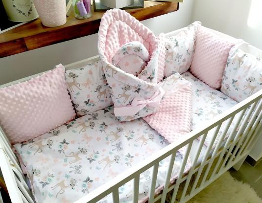 4-el pościel do łóżeczka Sarenki i Róż