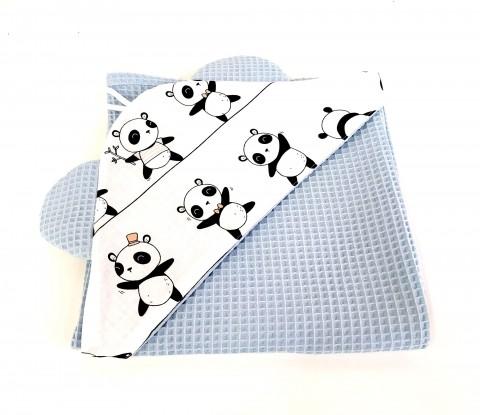 Ręcznik z kapturkiem Waffle Pandy