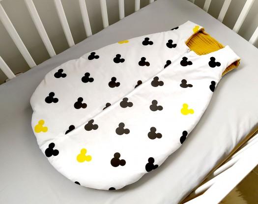 Śpiworek do spania 3-12 mies. Waffle Miki i Miodowy