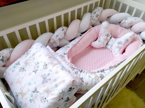 5-elementowa pościel do łóżeczka Sarenki