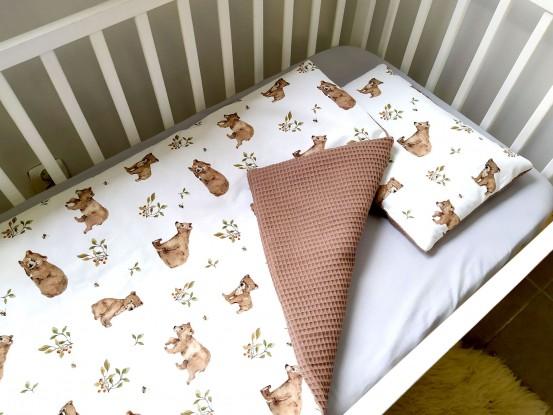Kocyk Waffle Niedźwiedzie [PREMIUM]