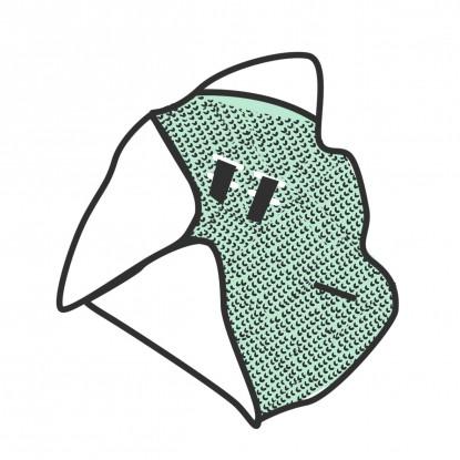 Kocyk do nosidełka ocieplany Minky/Waffle/Velvet