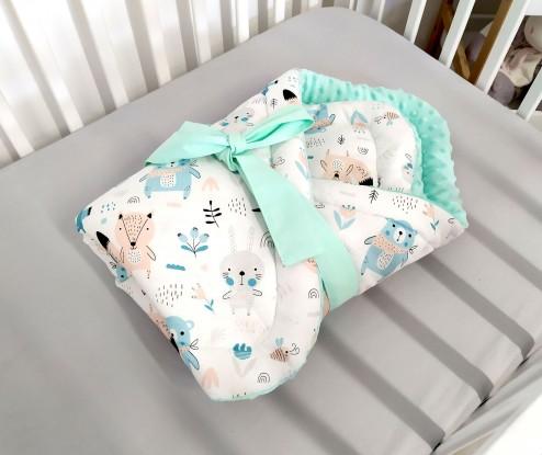 Rożek niemowlęcy Misiaki i Mięta