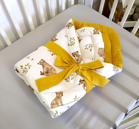 Rożek niemowlęcy Waffle Niedźwiedzie i Miodowy [PREMIUM]