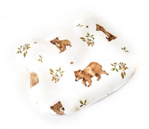 Poduszka bambusowa płaska z uszkami Niedźwiadki