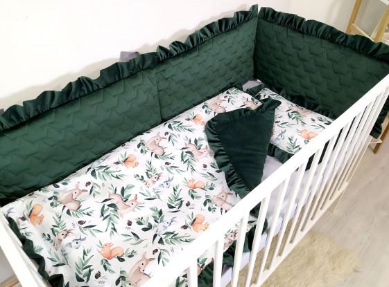 3-el pościel do łóżeczka Velvet Forest [PREMIUM]