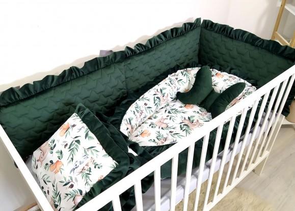 5-elementowa pościel do łóżeczka Velvet Forest [PREMIUM]
