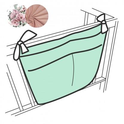 Organizer na łóżeczko Kwiaty 3 Kieszenie [PREMIUM]