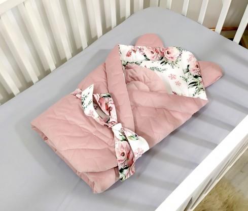 Rożek niemowlęcy Velvet Kwiaty [PREMIUM]
