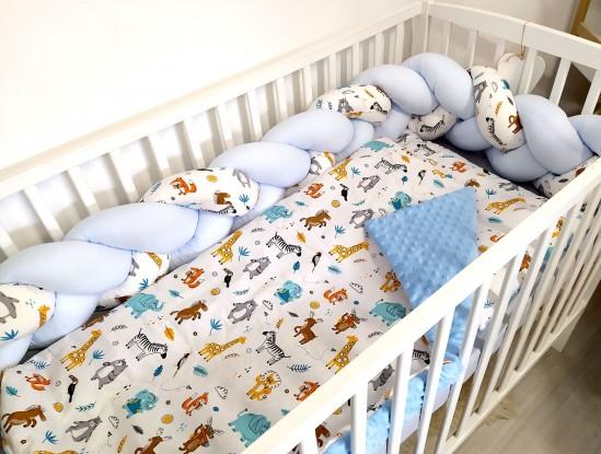 3-el pościel do łóżeczka ZOO i Niebieski