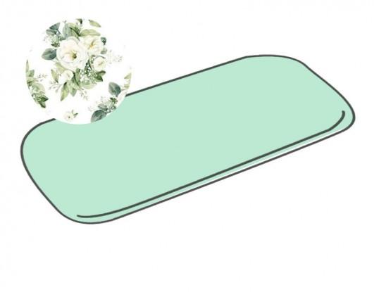 Prześcieradło do wózka Białe Kwiaty [PREMIUM]