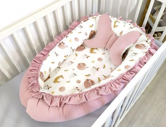 Kokon niemowlęcy Waffle Boho Space [PREMIUM]