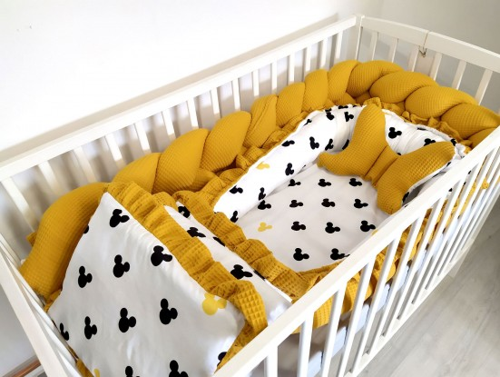 5-elementowa pościel do łóżeczka Waffle Miki