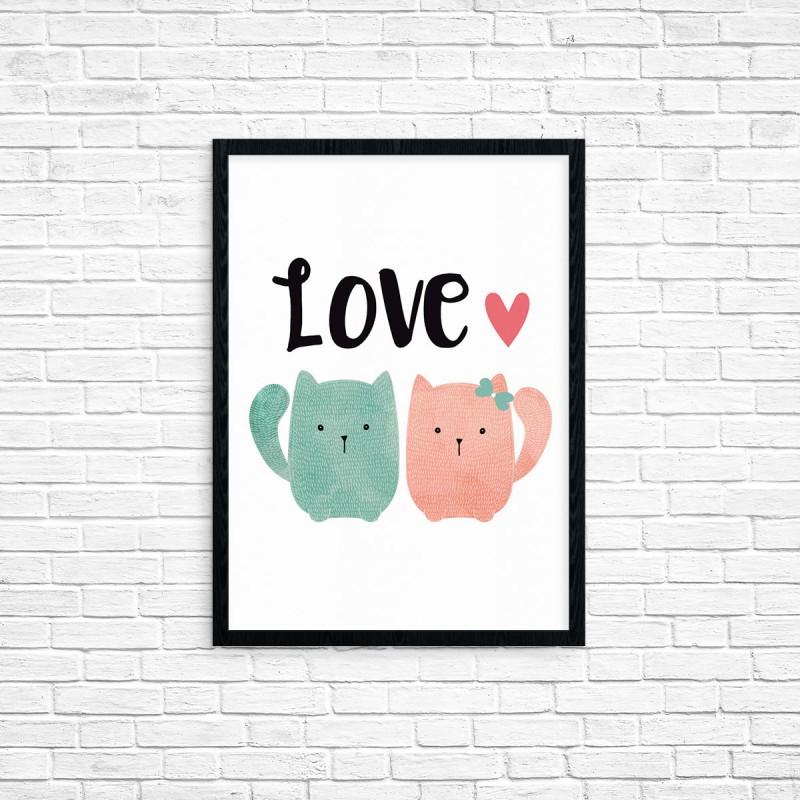 """Plakat A3 """"Love"""" (17)"""
