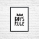 "Plakat A3 ""Boys Rule"""