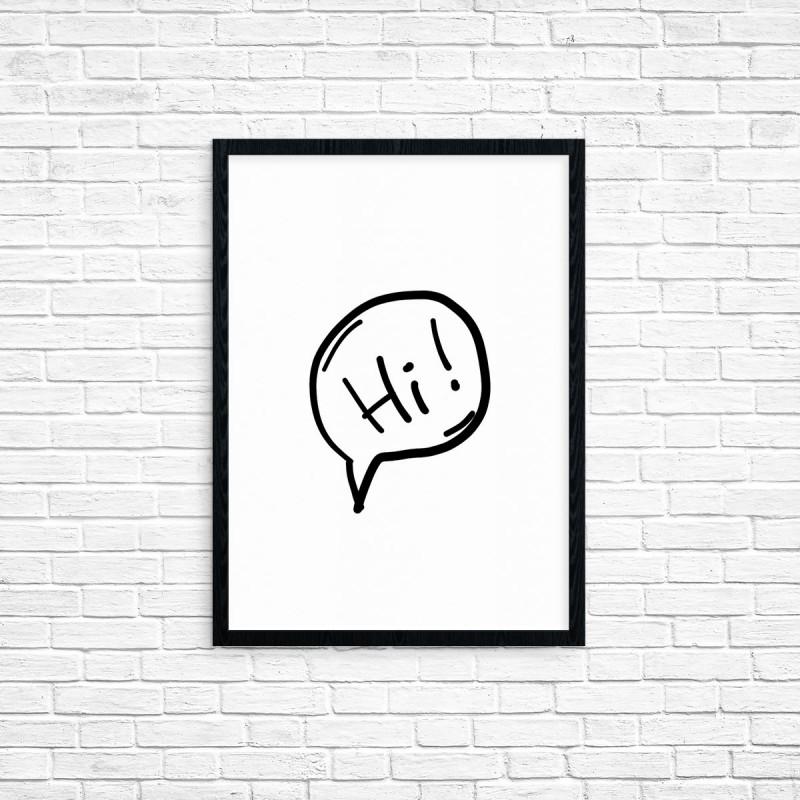 """Plakat A3 """"Hi"""" (28)"""