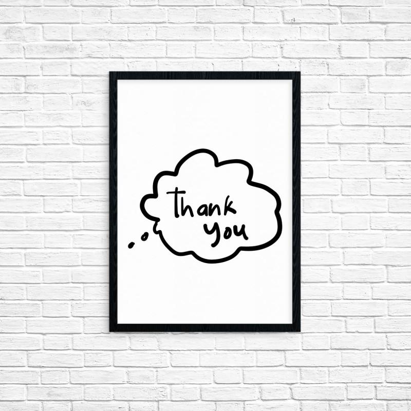 """Plakat A3 """"Thank You"""" (31)"""
