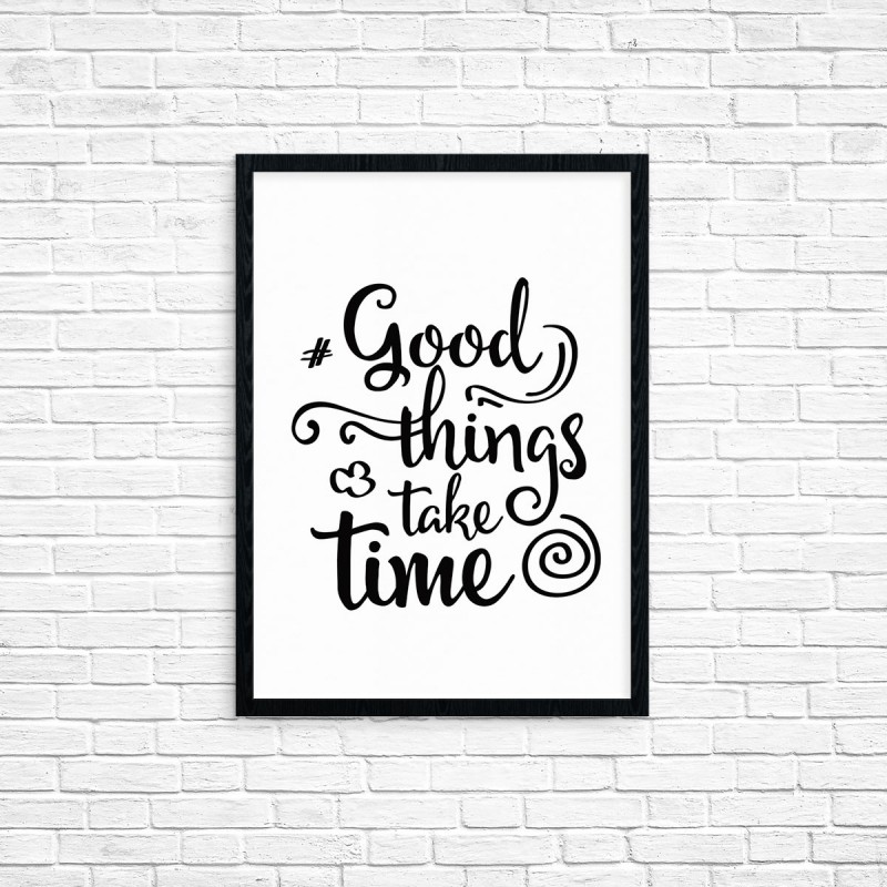"Plakat A3 ""Good Things.."" (32)"