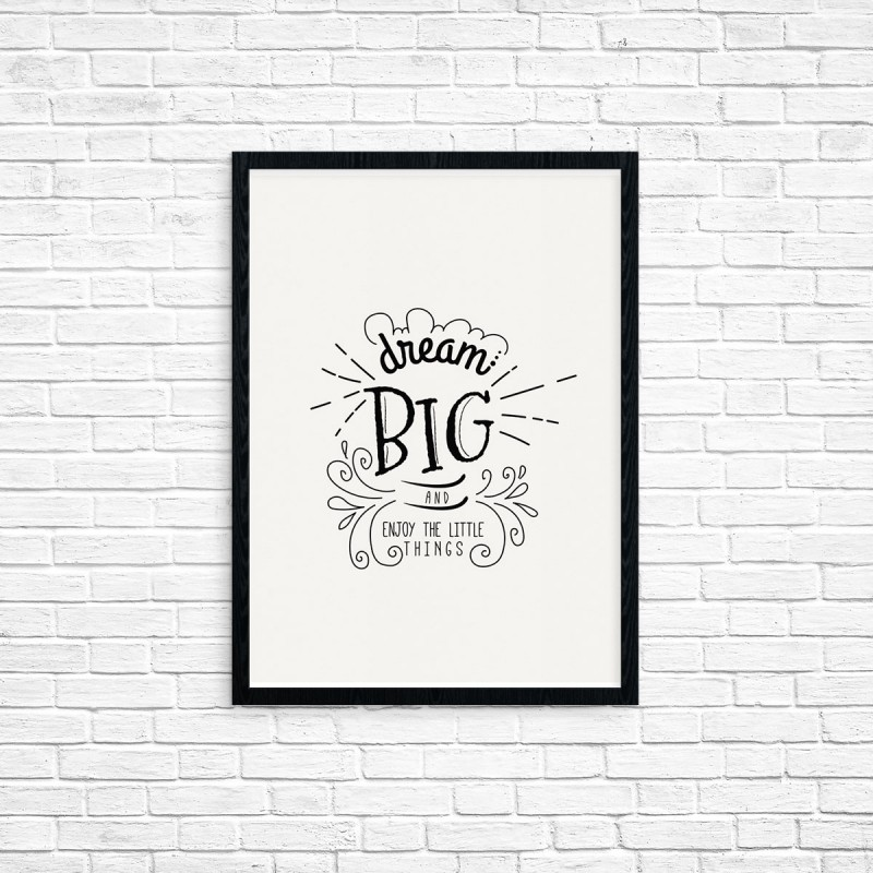 "Plakat A3 ""Dream big"" (41)"