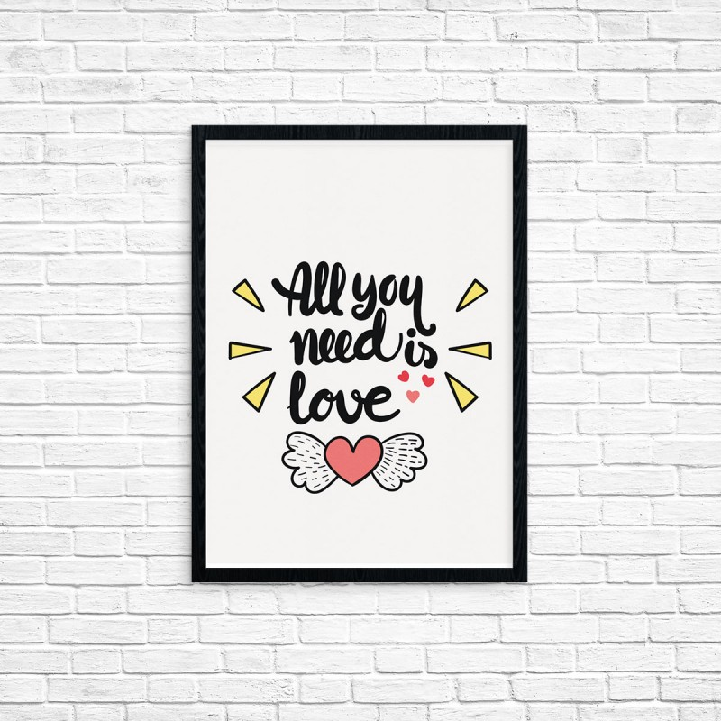 "Plakat A3 ""All you need is love"" (42)"
