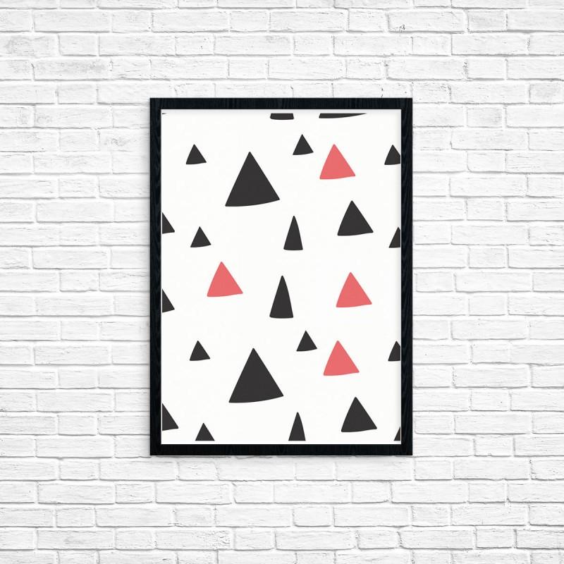 """Plakat A3 """"Trójkąty"""" (55)"""